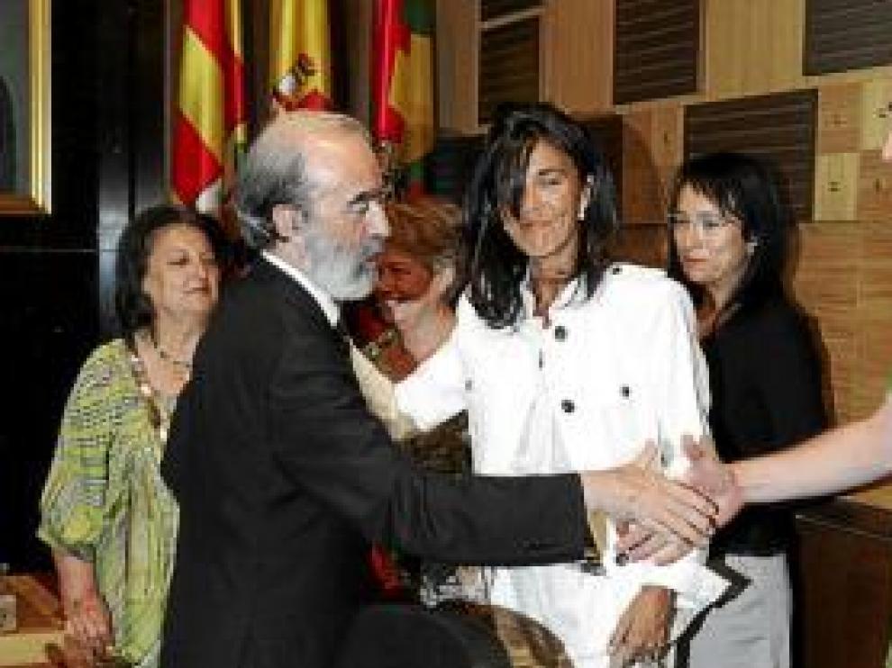 Los dirigentes socialistas José María Becana y Jesús M. Franco.
