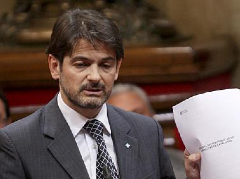 Oriol Pujol, en una intervención en el 'Parlament'.