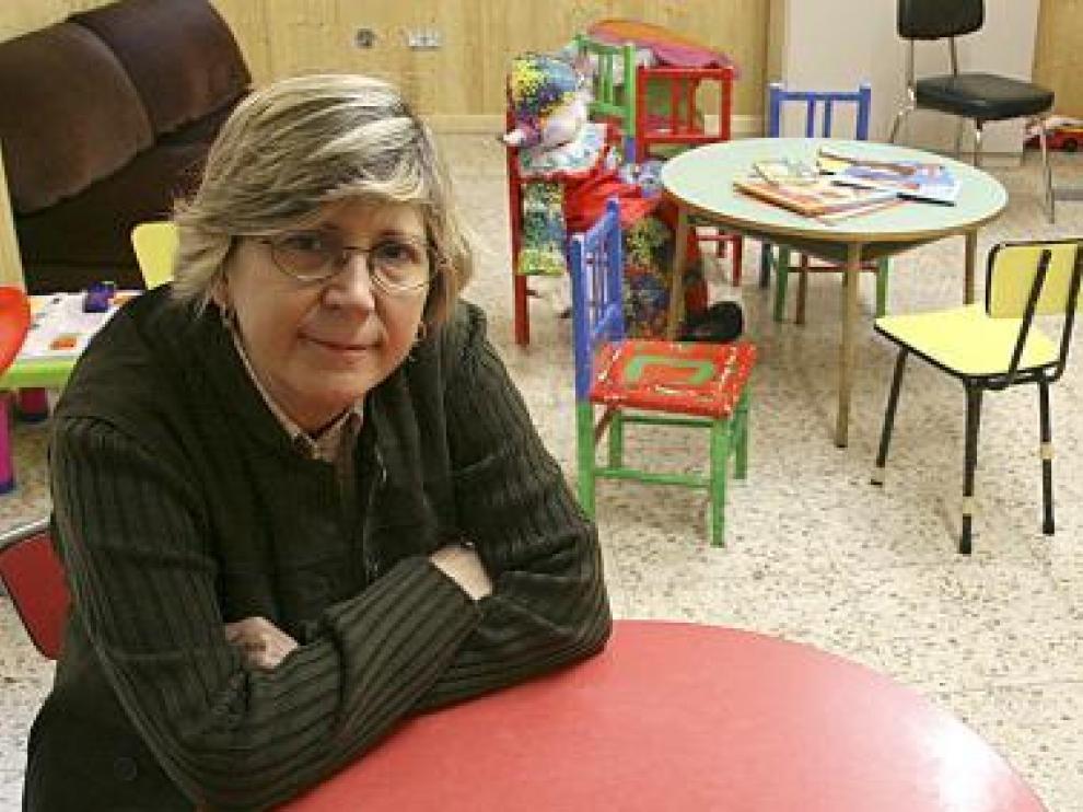 María Ángeles Val, en las instalaciones de la asociación Apefa.