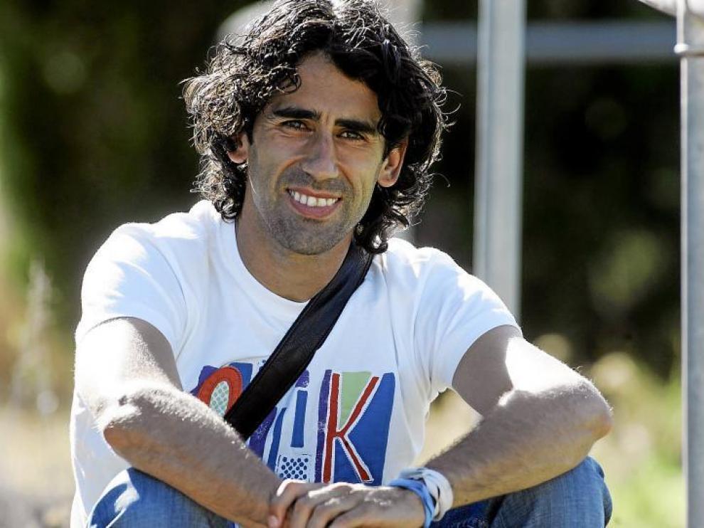Paco Gallardo, poco antes de comenzar las vacaciones. Su futuro podría estar ligado al Huesca un año más.