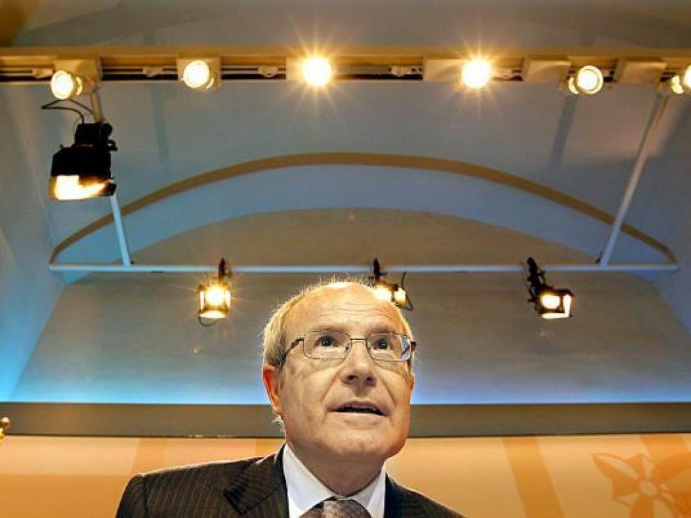 José Montilla, presidente de la Generalitat, en una rueda de prensa el pasado mes de abril.