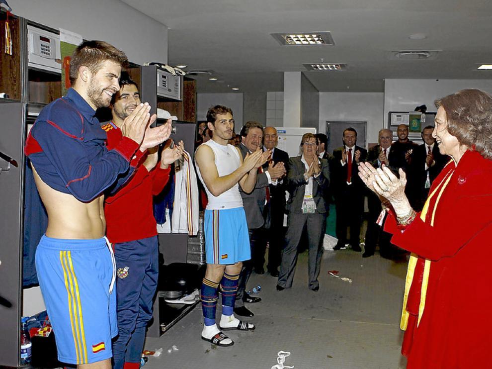 La Reina felicita a los jugadores de la Selección