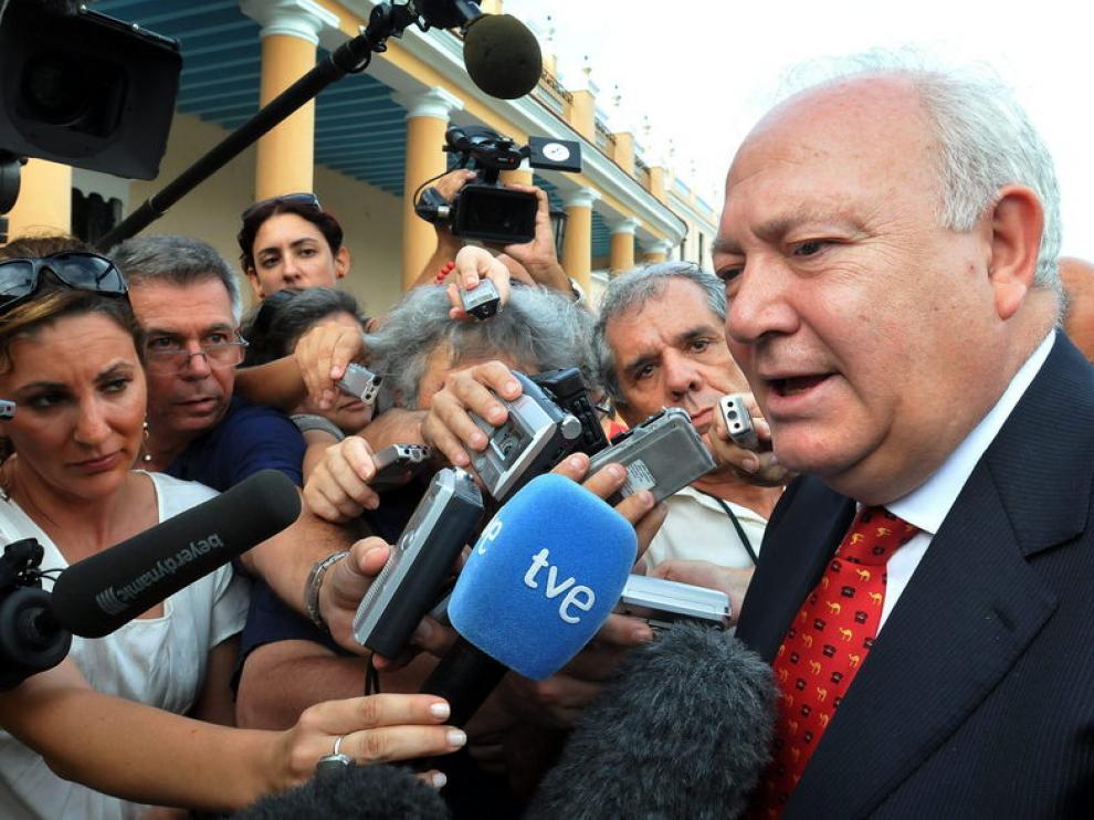 El ministro de Exteriores, Miguel Ángel Moratinos