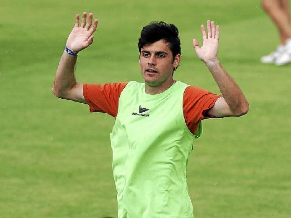 Chechu Dorado, durante un entrenamiento de la pasada temporada.