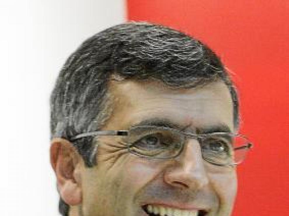Francisco Román, durante la entrevista.