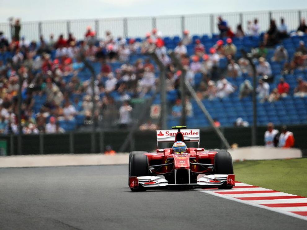 Fernando Alonso en su monoplaza