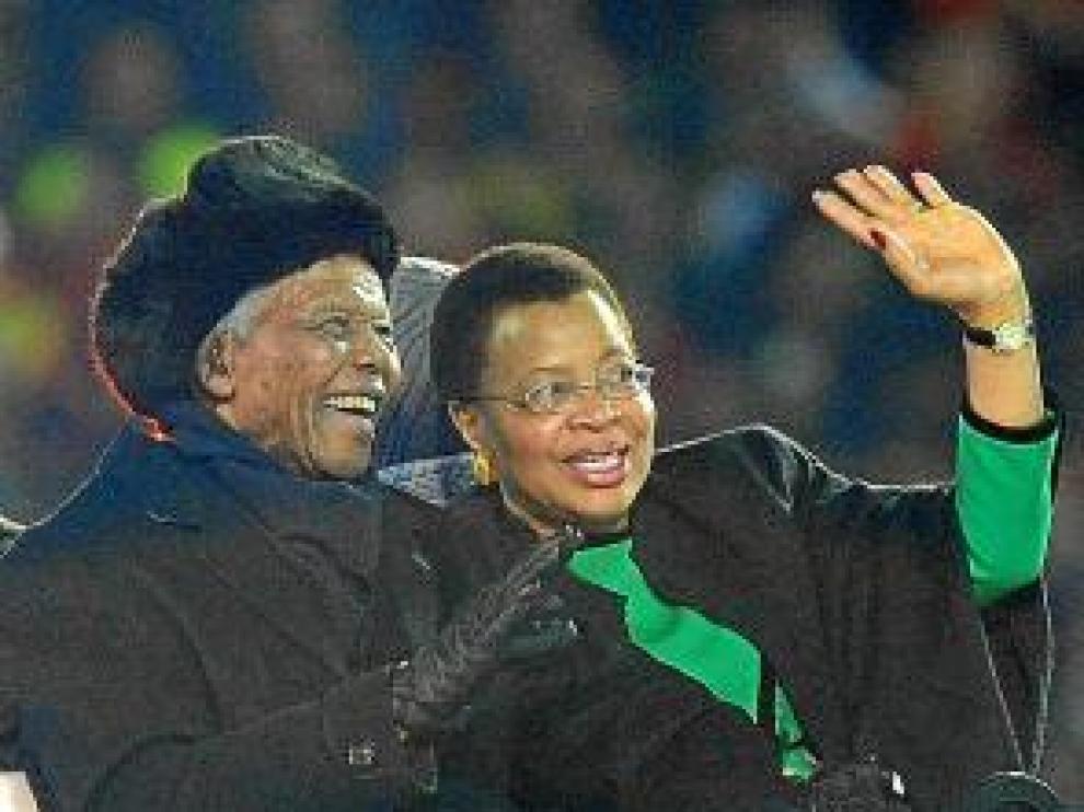 Mandela, durante el mundial