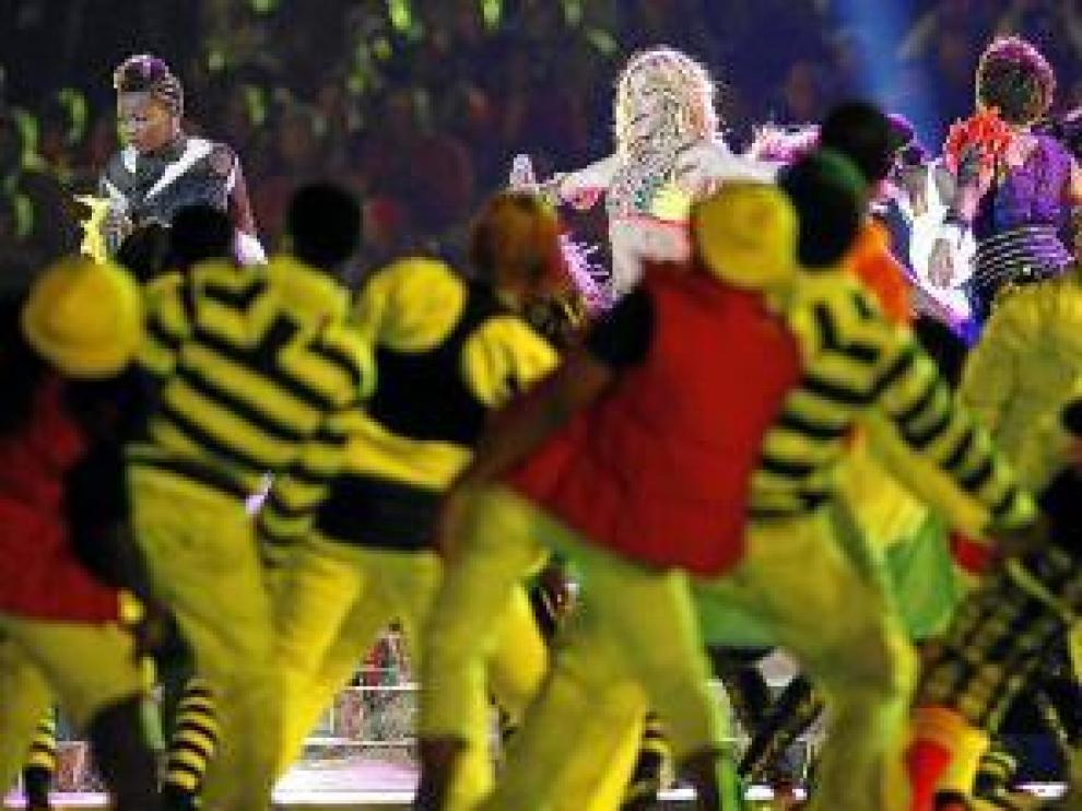 Shakira, durante su actuación.