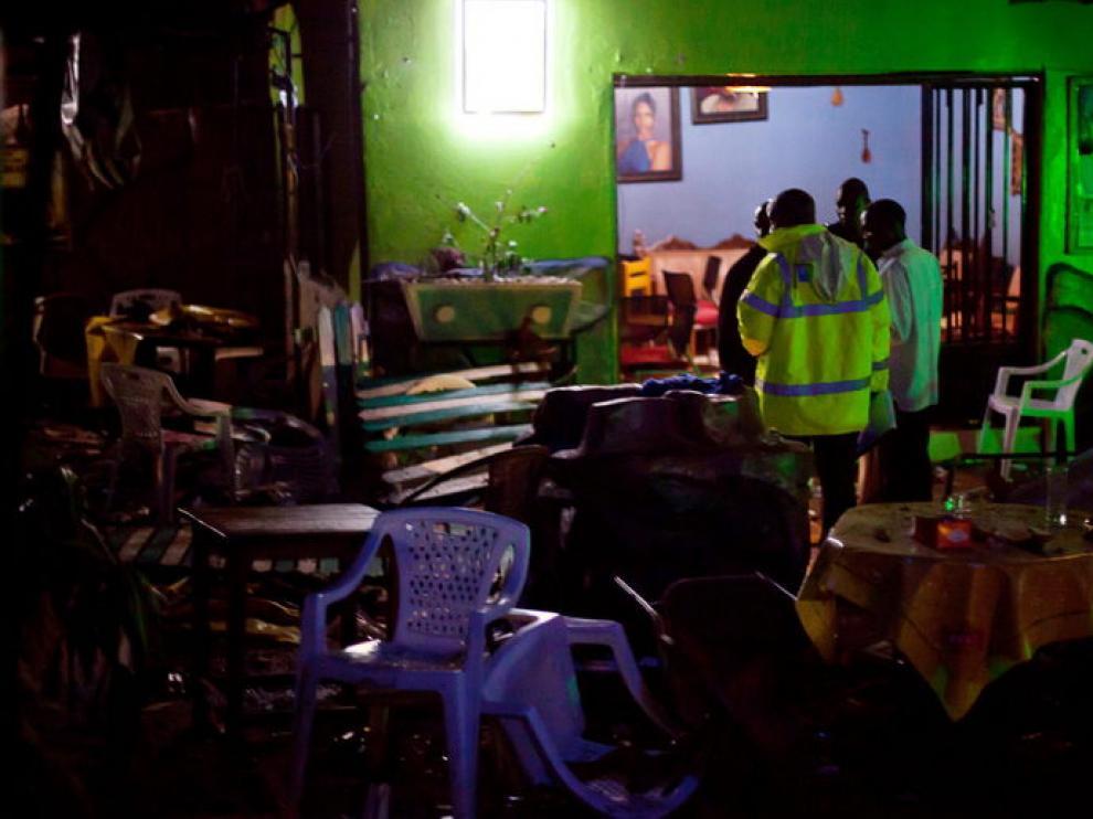 Escenario de una de las explosiones en Kampala