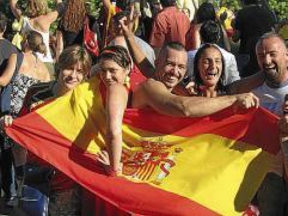 Aragoneses por el mundo... y con la Roja