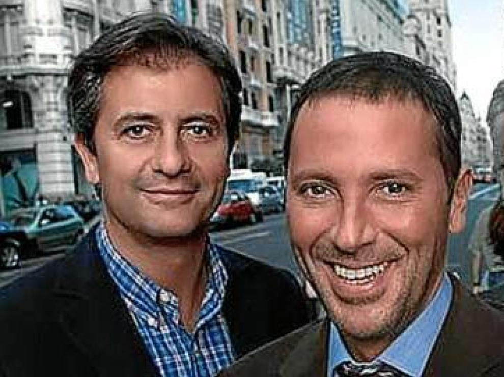 Manolo Lama, Paco González y Pepe Domingo Castaño, cuando eran compañeros en la Cadena SER.