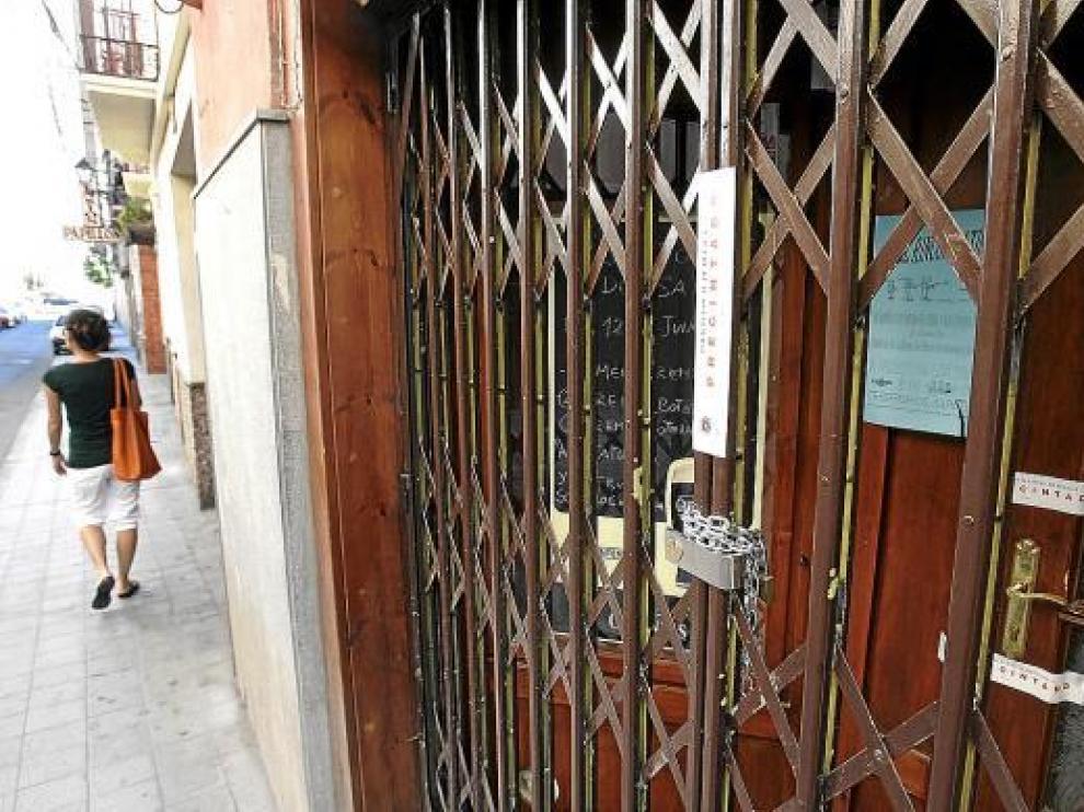 La Policía Local precintó el lunes el local ubicado en la calle de San Lorenzo, cerca del Tubo.