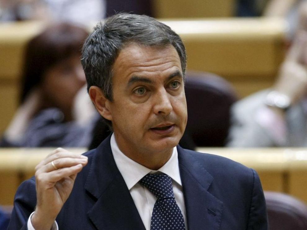 Zapatero durante una sesión de control.