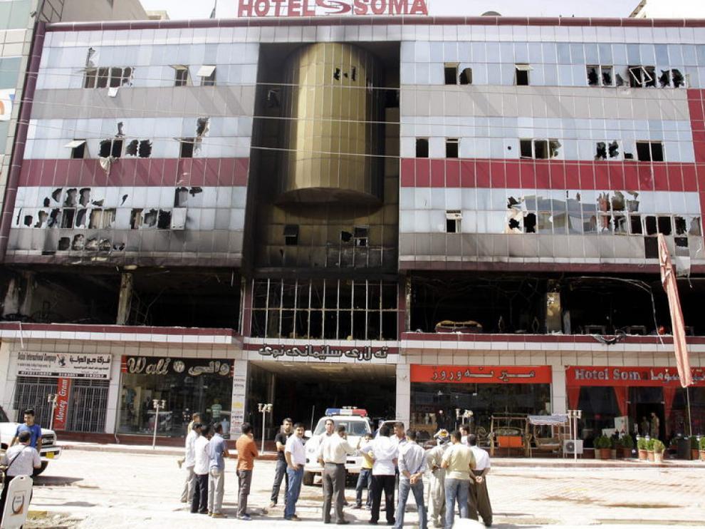 Estado en el que quedó el Hotel Soma.