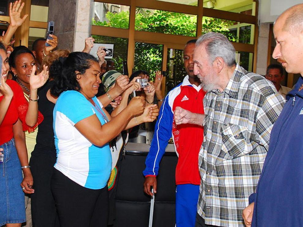 Fidel Castro y los embajadores
