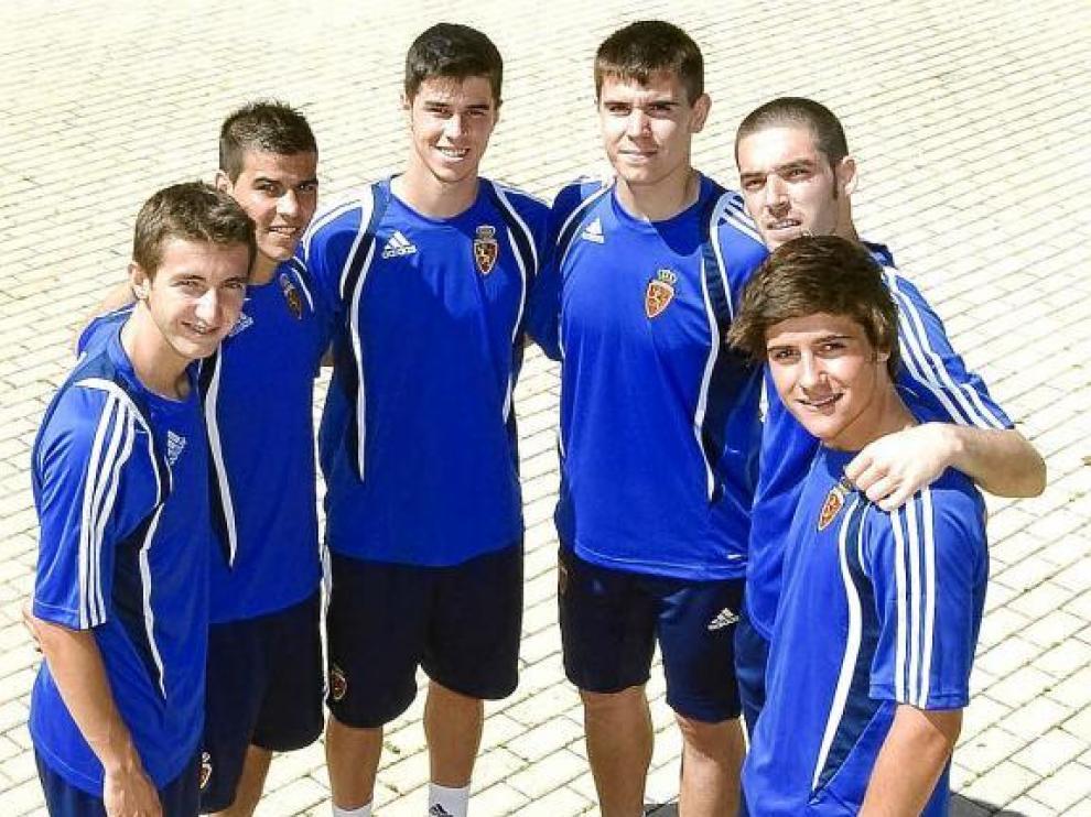 Kevin, Edu García, Alcolea, Unai, José y Ortí, la cantera en Navaleno.