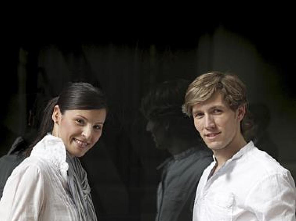 Sandra y Álex, recién llegados de su periplo oriental.