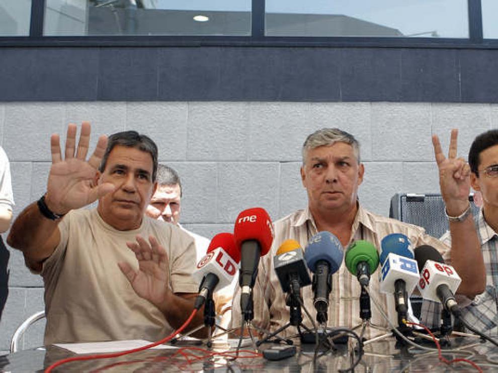 Una de las ruedas de prensa que han ofrecido los disidentes cubanos desde su llegada a España