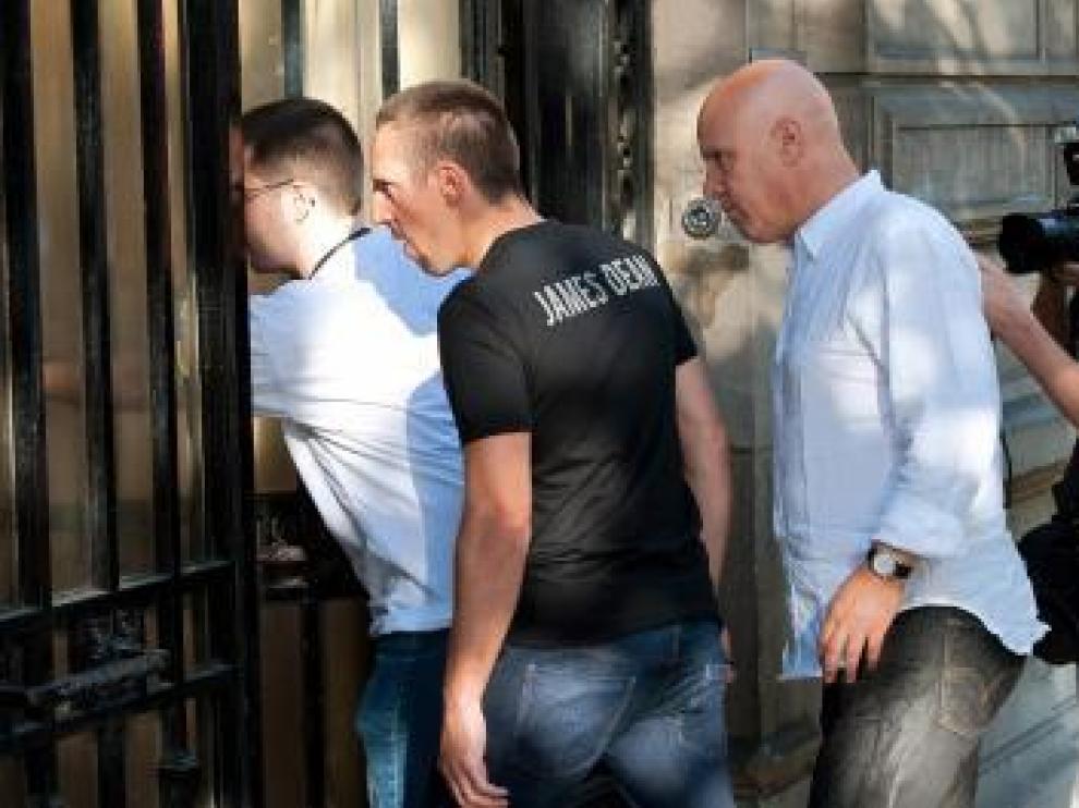 Ribéry acude a declarar ayer al juzgado.