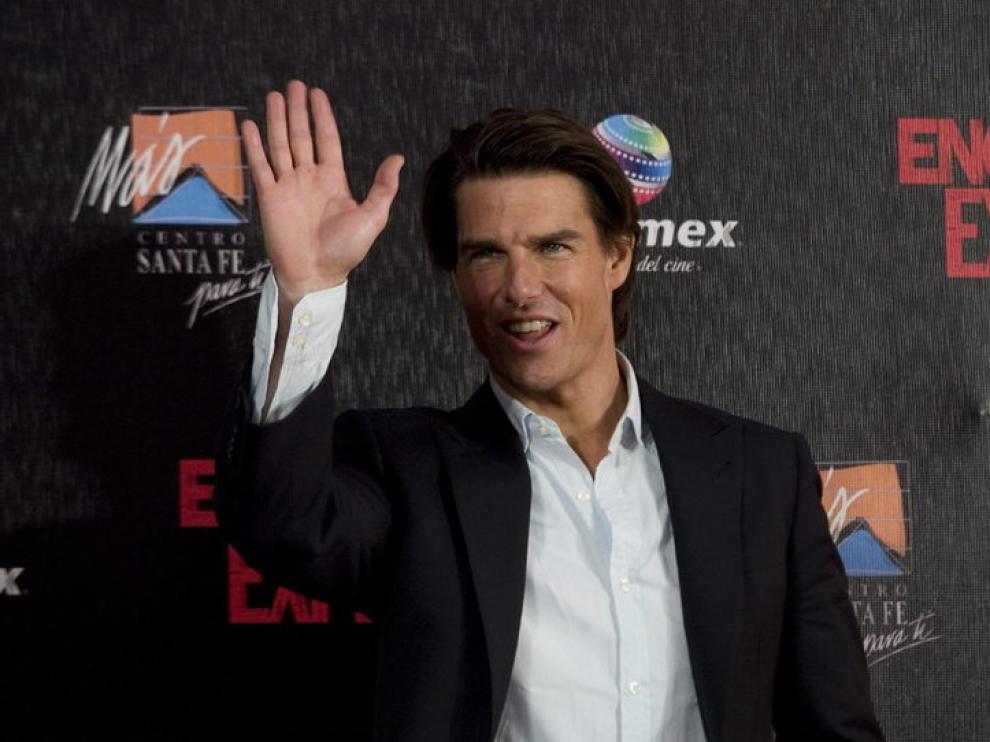 Tom Cruise, durante el estreno en México de su última película.