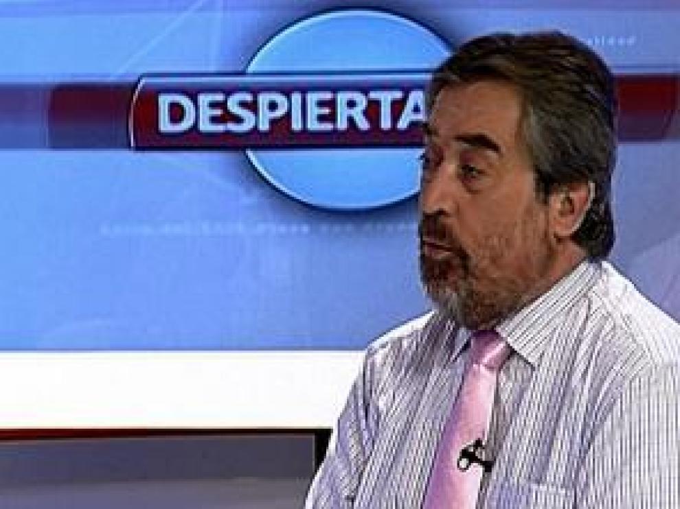 Belloch, en el programa 'Despierta Zaragoza'.