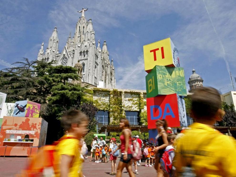 El parque de atracciones del Tibidabo, reabierto tras el accidente del sábado