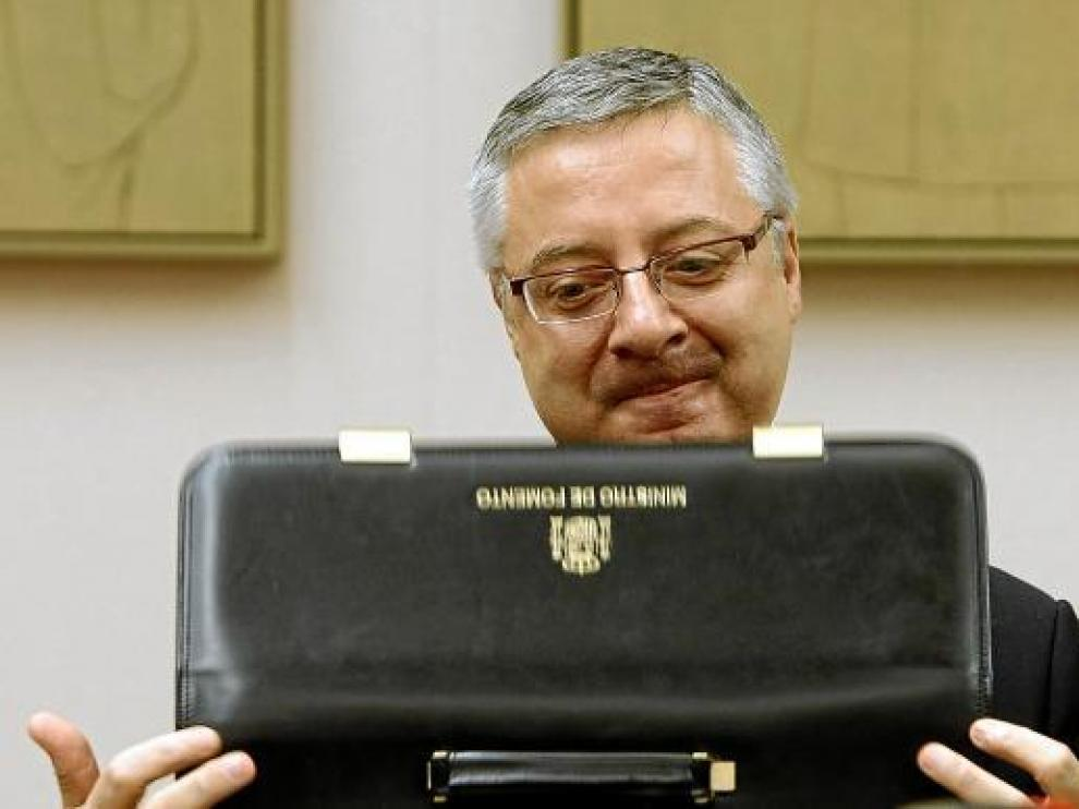 José Blanco, en su comparecencia de ayer en la comisión de Fomento del Congreso.