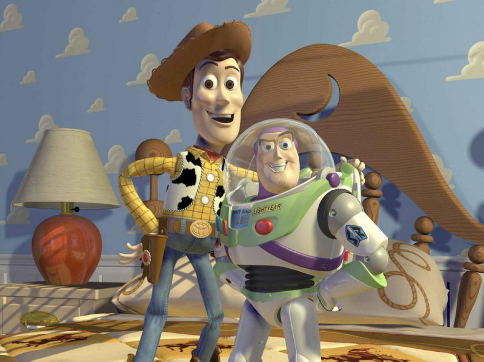 Los protagonistas de la película Toy Story, el vaquero Woody y el viajero espacial Buzz Lightyear