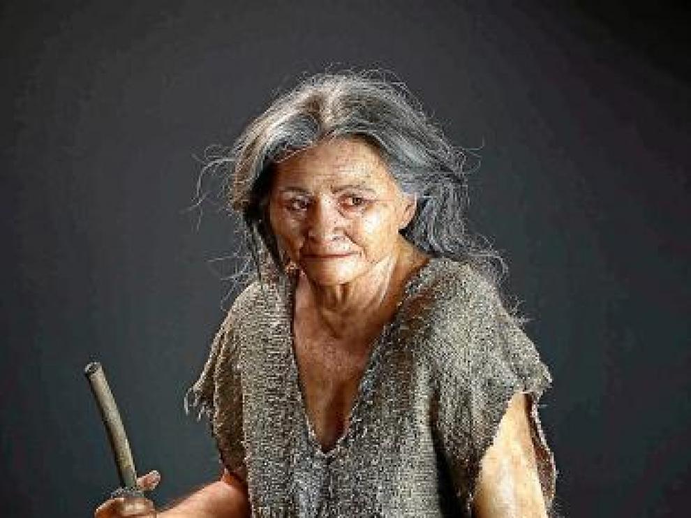 La Mujer de las Palmas que ha sido recreada.
