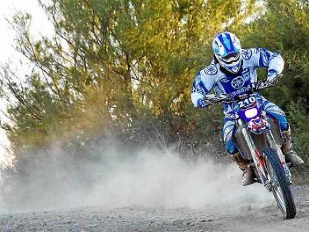 Marc Guasch, vencedor en motos, en acción.