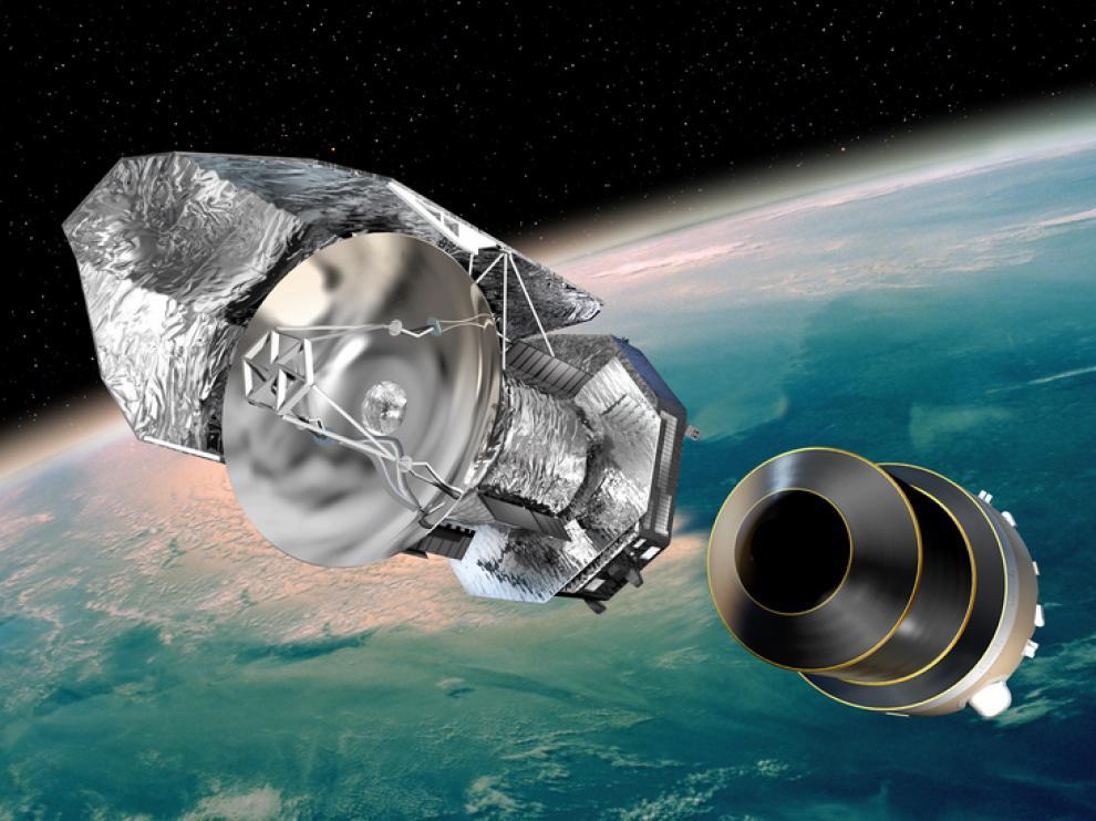 Ilustración del Herschel en es espacio.