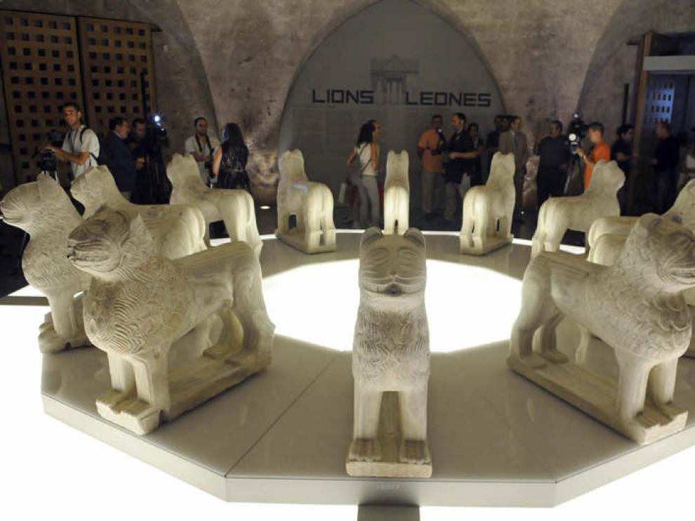 La escultura, en la cripta del palacio de Carlos V