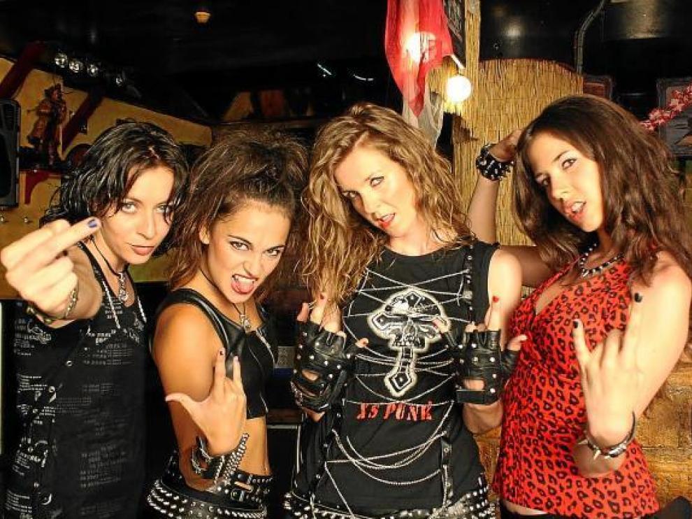 La cuatro actrices que dan vida a las Princess of the Night en 'Road to Wacken'.