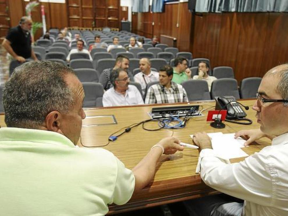 La Asamblea del Club Baloncesto Peñas se celebró ayer en la Cámara de Comercio de Huesca.