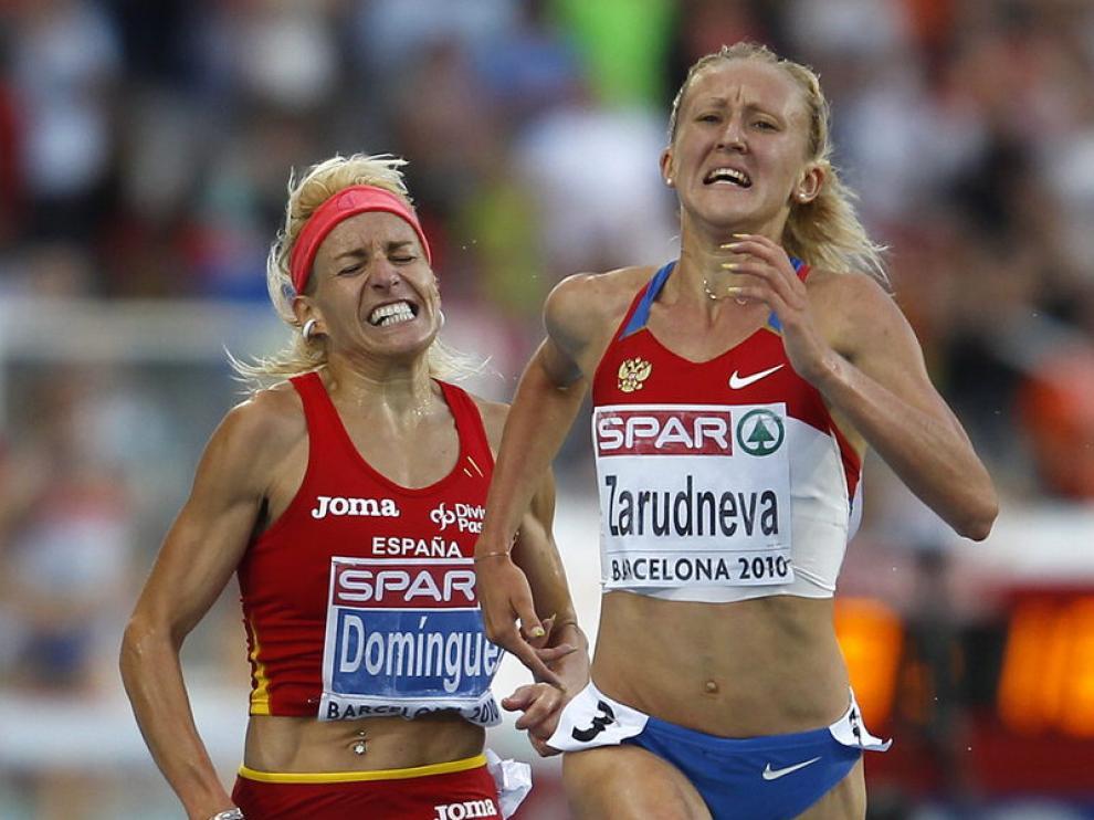Marta Domínguez en la prueba de los 3.000 obstáculos