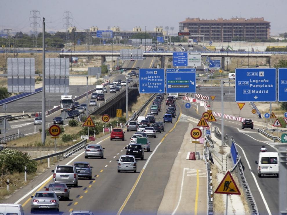 Tráfico en las carreteras aragonesas