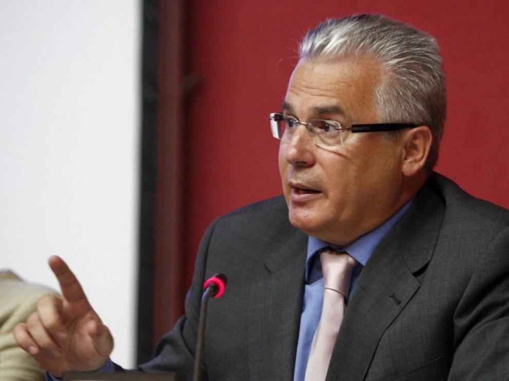 Garzón durante la conferencia.