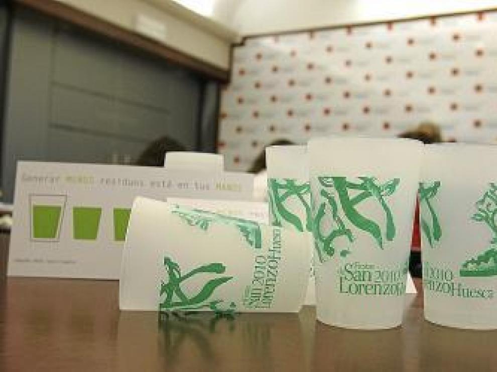 Los vasos reutilizables ya se han utilizado en las fiestas de San Lorenzo