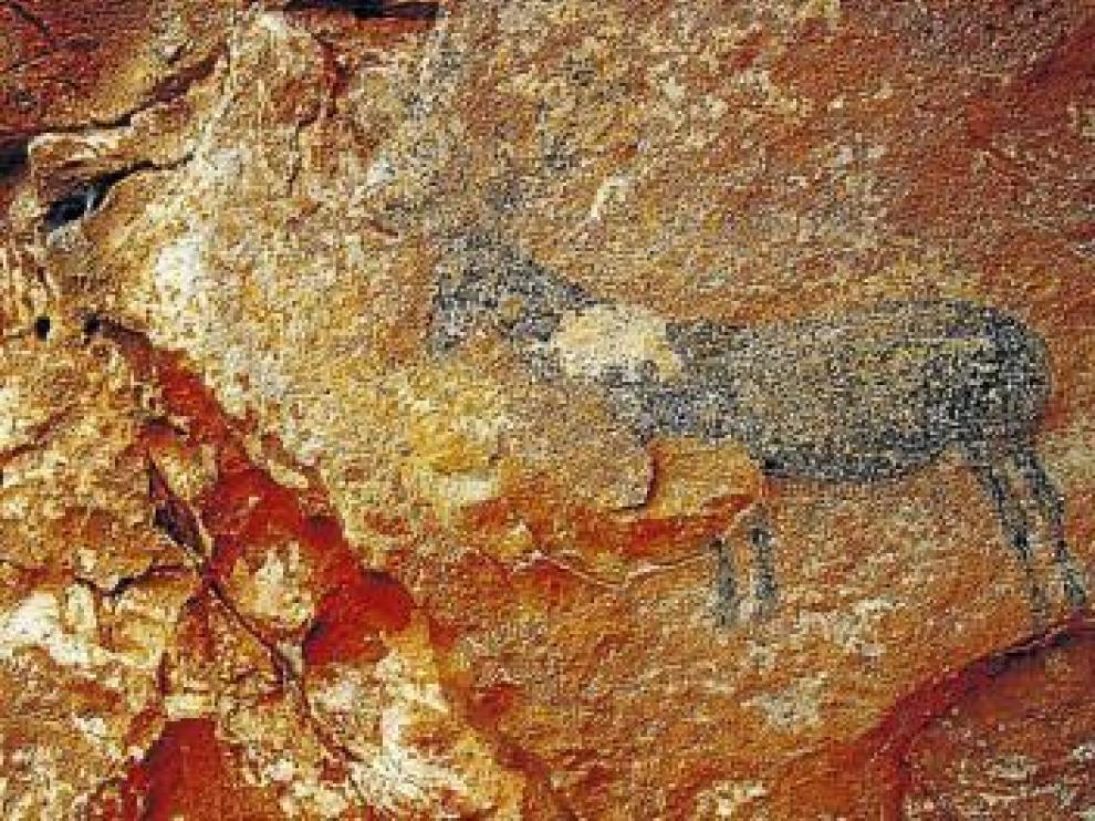 La DGA no ha protegido las pinturas rupestres descubiertas hace un año en Jaraba