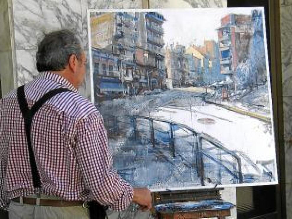 Concurso de pintura rápida en Binéfar.