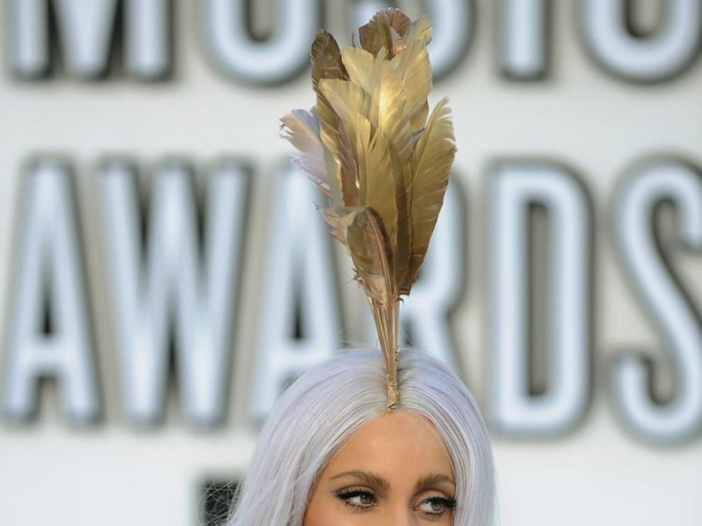 Lady Gaga, a su llegada a los premios