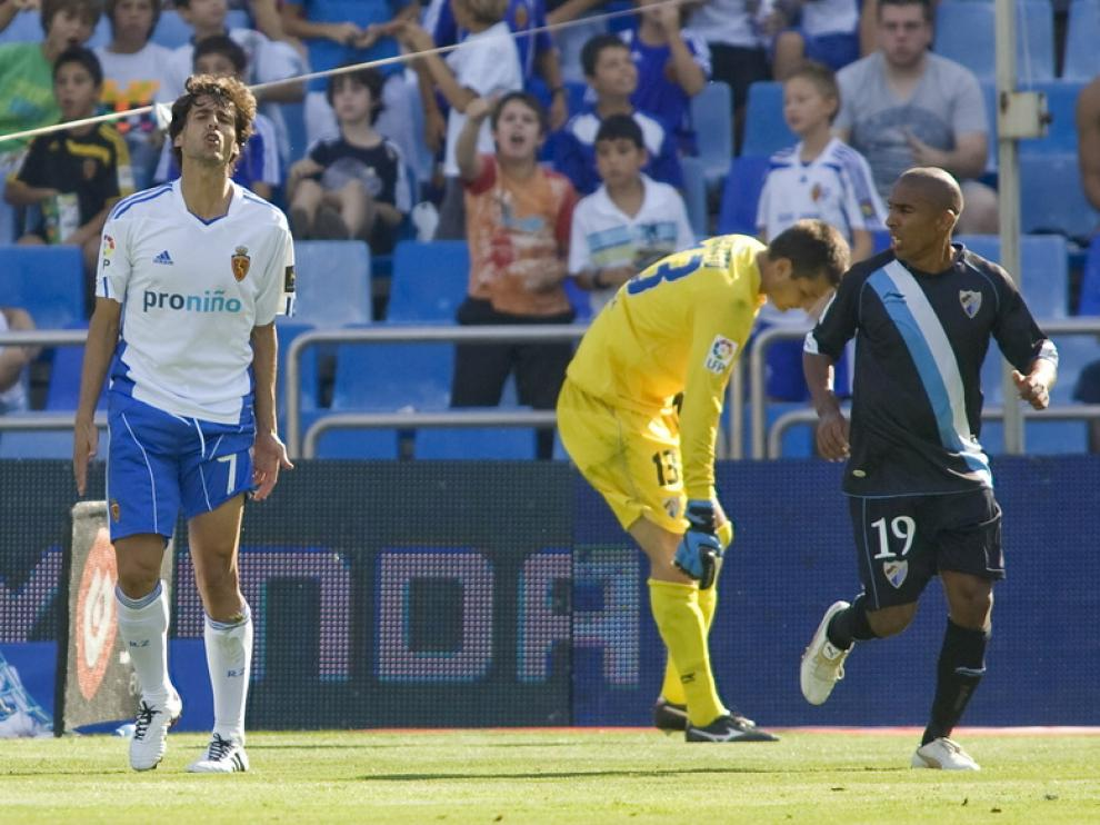 López se lamenta durante un partido de esta temporada