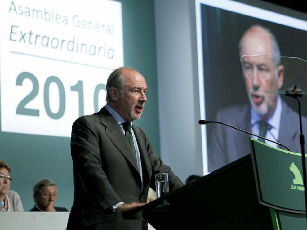 Rodrigo Rato, presidente de Caja Madrid.