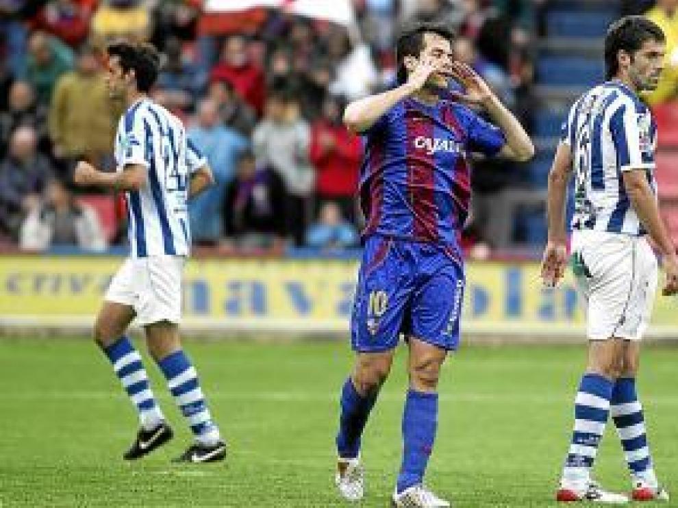 Camacho, en un partido contra la Real Sociedad.