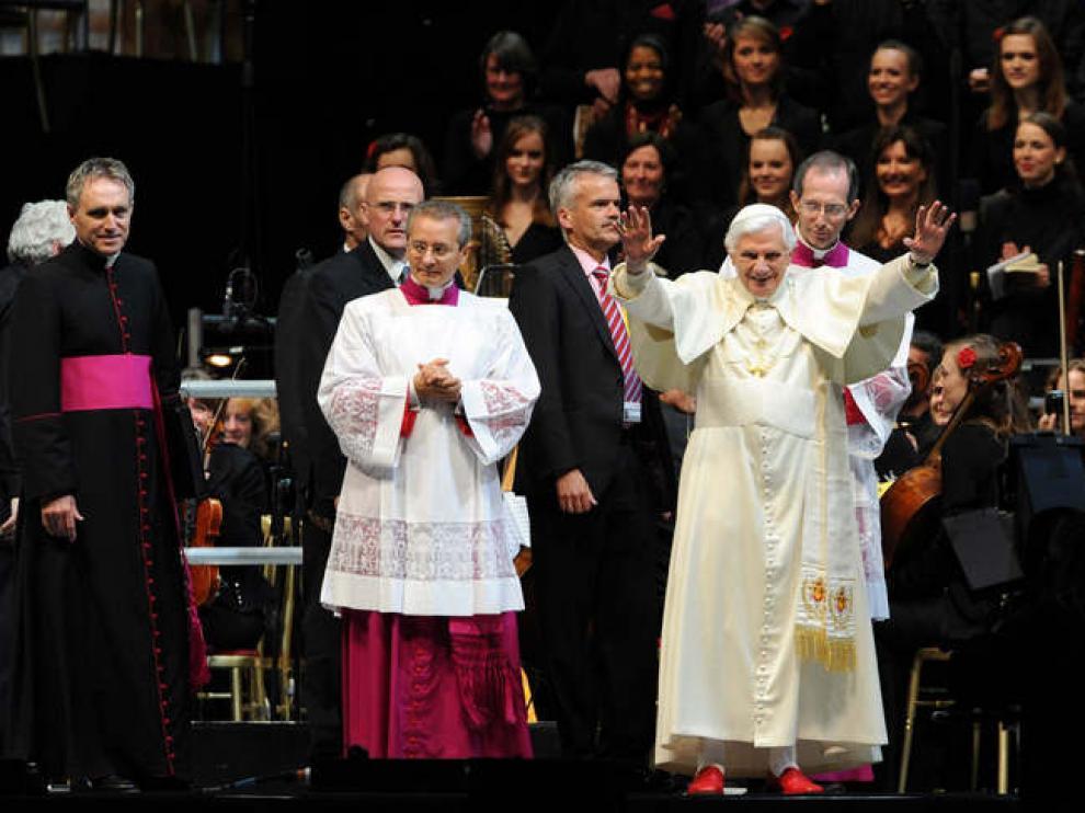 Benedicto XVI, el sábado, en un acto en Hyde Park