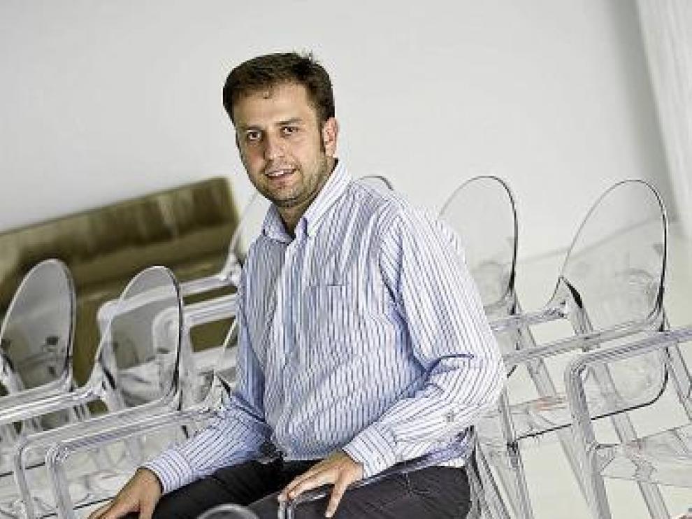 Manuel Laborda, ayer, en la sede de Zaragoza Activa.