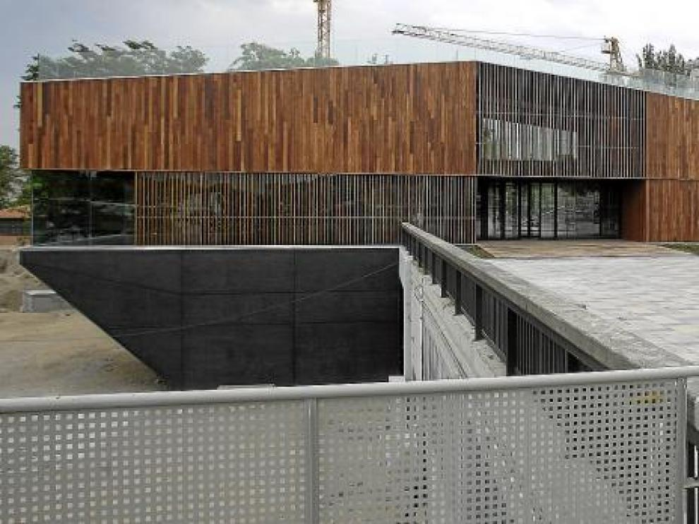 Vista de la sede de la Unidad de Montes del Ayuntamiento de Zaragoza, diseño de Magén Arquitectos.