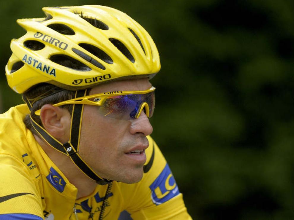 Alberto Contador, en el Tour de Francia