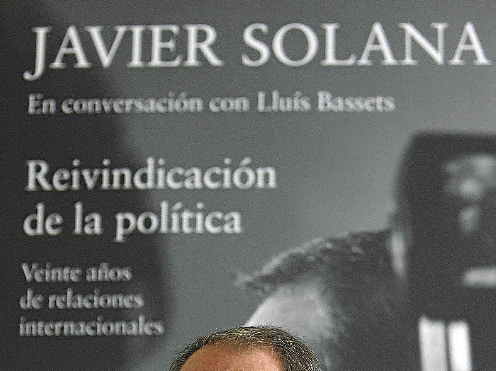 Javier Solana, en la presentación de su libro en Madrid