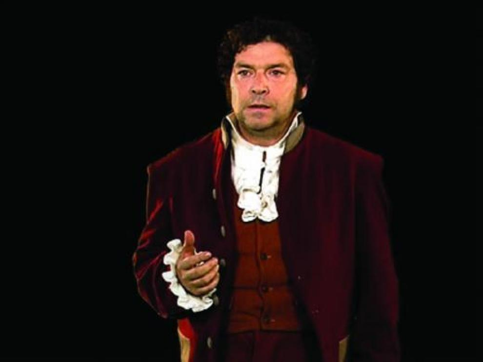 Jorge Asín, caracterizado como Francisco de Goya en un fotograma de 'Dato primitivo 4. 1781: caso Goya'.